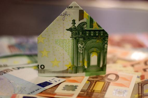 Billet de banque (€) représentant une maison