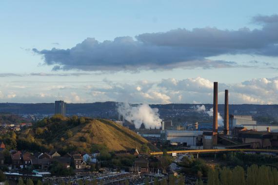 Vue panoramique sur la ville de Charleroi