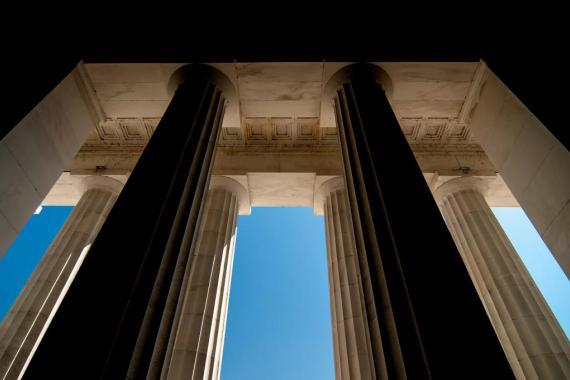 Colonnes d'un palais de justice