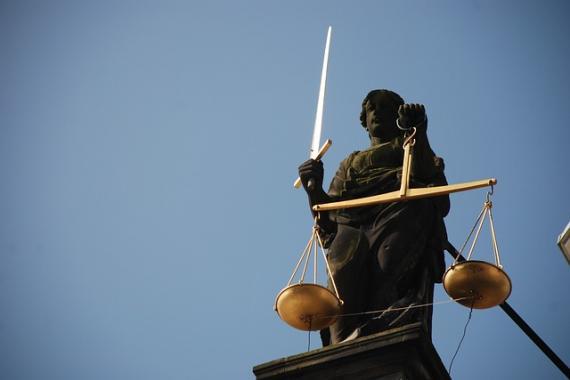 Statue représentant l'allégorie de la justice