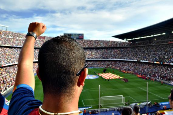Supporters football au stade