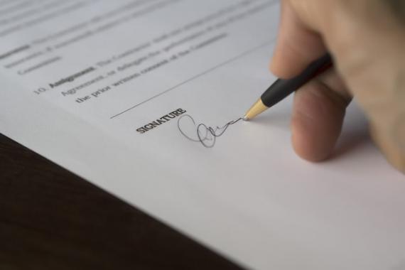 Signature, statuts ASBL