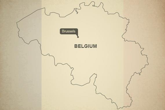 Carte de Belgique aux couleurs du drapeau belge
