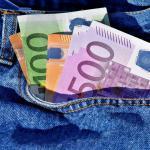 500 euros dans une poche