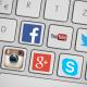 Clavier comportant des touches représentant les icônes des principaux réseaux sociaux